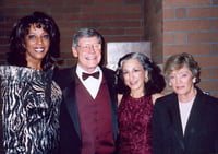 "University of Montana 2003 ""Hall of Honor"" honorees, Dee Daniels and Dana Boussard with Dr. and Mrs. George Dennison, president of U of M"
