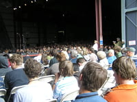 The Saturday afternoon Mainstage crowd literally spilling out of the McCurdy Pavillion, Centrum Jazz Festival