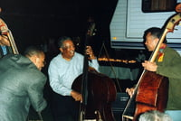 "Christian McBride,  Ray Brown and  John Clayton Jr. Backstage with ""Super Bass"" 2000"