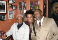 Jazz legend/drummer, Bobby Durham dropped in at Marians' Jazzroom