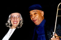 My big sister and brother, Jane Jarvis and Benny Powell Lionel Hampton Jazz Festival  2001